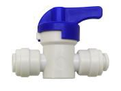 Finerfilters 0.6cm PF Shut Off Valve Tap To Accept 0.6cm Tube For Drinking Water, Reverse Osmosis, Fridge Filter Systems