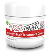 V22 MAX Paraben Free Double Strength Ingrown Hair Treatment Cream - 50ml