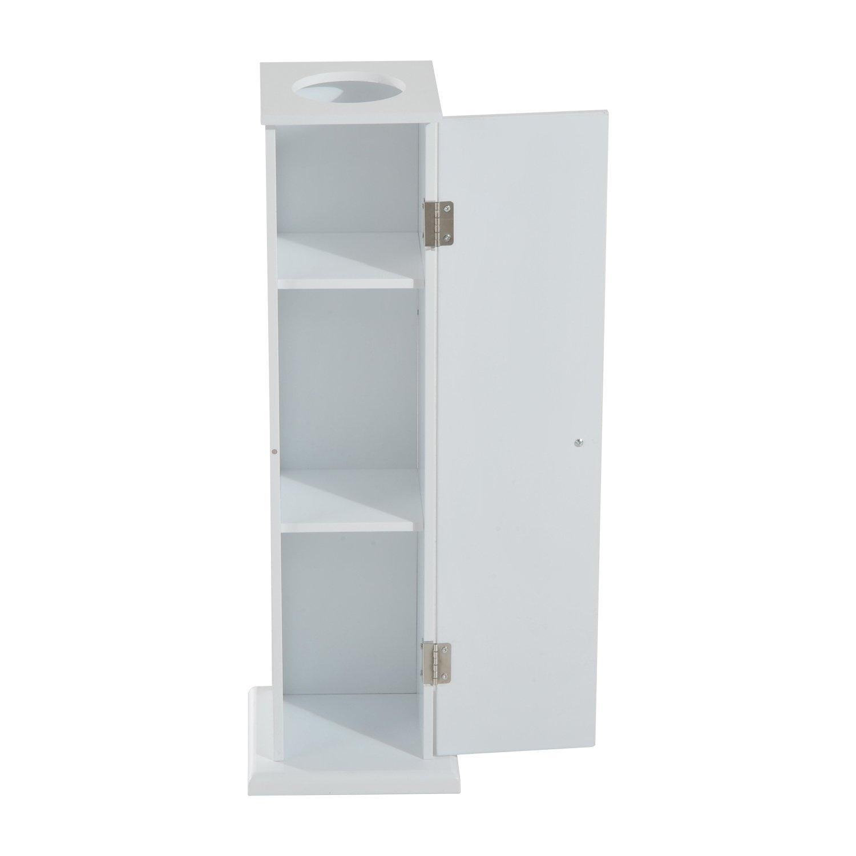 HOMCOM Toilet Roll Storage Cabinet Tissue Paper Holder Wooden Floor Stand  Storage White By Homcom   Shop Online For Homeware In New Zealand