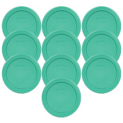 Pyrex 7202-PC 1 Cup Green Round Plastic Replacement Lid - 10 Pack