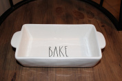 Rae Dunn by Magenta BAKE Large letters Loaf Pan 23cm .