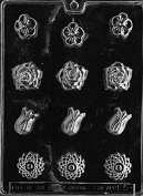 F005 Assorted Flowers Chocolate Candy/Soap Mould