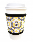 Joe Jacket Drink Insulator, Coffee Sleeve, Cup Grip, Queen Bee
