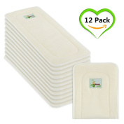 Naturally Natures Cloth Nappy Inserts 5 Layer - insert - Bamboo Reusable Liners (pack of 12) Liner