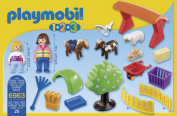 Playmobil 6963 1.2.3 Petting Zoo with 5 Animals Toy