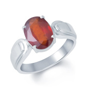 Shraddha Shree Gems Certified NATURAL HESSONITE 4.25 RATTI STERLING SILVER RING for Gents & Ladies Ring