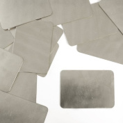 ImpressArt, Rectangle, Nickel Silver, 5.1cm x 3.5cm Stamping Blanks- 24 pc.