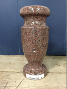 Imperial Pink Granite Monument Flower Vase 12x5.5-A