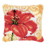 Vervaco Lily Latch Hook Cushion, Multi-Colour