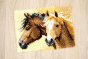Vervaco PN-0144834   Large Hole Canvas Horses 2 Rug Latch Hook Kit