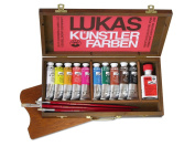 LUKAS Berlin Water-Mixable Oil Colours Wood Box Set of 10