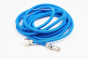Harder and Steenbeck airbrush Braided Air Hose 3m quick coupling with air valve. by SprayGunner