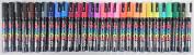 Uni Posca Paint Marker Pen, Medium Point(PC5M), 29 Colours Set with Original Vinyl Pen Case