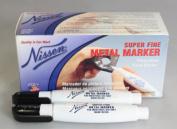 Nissen SFBK Super Fine Metal Marker, Black