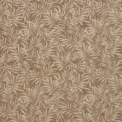 Beige and Tan Thin Foliage Chenille Upholstery Fabric by the yard
