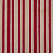 Tan and Burgundy Red Small Scale Velvet Stripe Upholstery Fabric by the yard