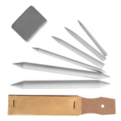 eBoot Drawing Accessories Set Blending Stumps and Tortillions Pencil Sandpaper Pointer with Kneaded Eraser, 8 Pieces