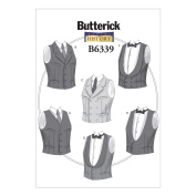 Butterick Patterns B6339 Single or Double-Breasted Vests, XM