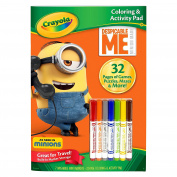 Crayola Despicable Me Colouring & Activity Pad with Markers Toy
