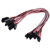 eBoot 12 Pieces 3-Pin Extension Lead Wire Cable Cord for Control Board Remote Control Parts, Female to Male, 320 mm