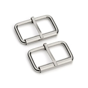 Trimming Shop 50 X 50mm Roller Buckle For Men And Women - Replacement Clasp For Repairing Belts,And Leather Crafts - Heavy Duty Metal Fastener - Arts And Crafts Sewing Kit Supply For Fixing 50 Set