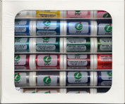 Iris Threads 60006-A24 Iris Polyester Embroidery Thread 24 Colour Sampler