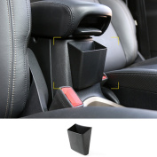 Dwindish Black ABS Auto Car Exterior Armrest Storage Box for Jeep Renegade 2015-2017