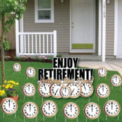 Enjoy Retirement! Nothing But Time! Yard Card- Retirement Clocks