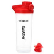 Shake Bottle Protein Blending Bottle Powder Mixing Cup Auto Flip Top Water Bottle With Locking Lid Shaker -710ml