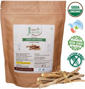 Just Jaivik 100% Organic Licorice Root Powder - Mulethi Powder 227 g / 0.5 LB Pack (Glycyrrhiza Glabra) / Yastimadu Powder- An USDA Organic Certified Herb