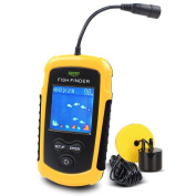 Lucky Portable Wired Fish Finder,Coloured LCD Display, Fishing Sonar Sensor Transducer