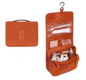 Urmiss Vintage Multi-functional Portable Waterproof Cosmetic Bag Folding Toiletry Bag Makeup Bag Travel Kit with Hanging Hook for Men and Women