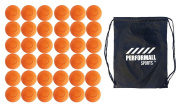Signature Lacrosse Bundle (36-Ball) Lacrosse Balls NCAA NHFS NOCSAE & SEI Approved with 1 Performall Sports Drawstring Bag Green-36P