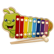 Berry President(TM) Wooden 8 Notes Xylophone - First Musical Instrument for Children, Portable Music Toys for Kids Baby with 2 Wood Mallets
