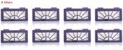 8 Pack Hepa Filter Replacement for Neato XV-15 XV-25 XV21 Vorwerk VR100 Vaccum By NISPIRA
