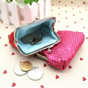 Bodhi2000® Womens Girls Mini Sequins Buckle Coin Purse Small Clutch Wallet