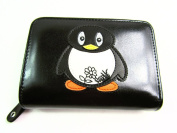 Womens Ladies Girls Fun Cute Penguin Motif Purse Wallet Coin Pouch Card Holder
