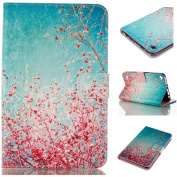 Mo-Beauty® Case For Amazon Kindle Fire 7 (2015 Released 5th Generation),PU Leather Wallet Case Colourful Pattern Design Flip Wallet Case Cover For Kindle Fire 7 (18cm inch Display - 5th Generation, 2015 Release Only), Sakura