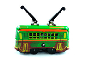 Tin Toys New Collection Metal Wind Up Toys Green Tramcar Retro Tin Tram For Home Decoration For Bar Decorations Holiday Gifts Trolley Streetcar