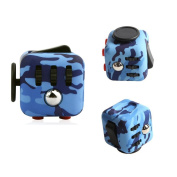 Ratoop Fidget Toy Relieves Stress and Anxiety Attention Toy for Work, Class, Home, Camouflage Blue