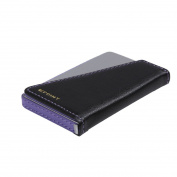 EDC0805 Black Purple Silver Synthetic Leather Lawyers Credit Card Holder Work-utility Mens By Epoint