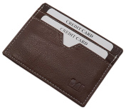 Extra flat leather credit card case in 3 different colours