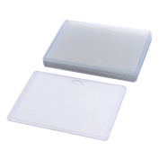 Plastic Horizontal ID Card Name Tag Business Badge Holder 10pcs Clear