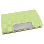 Sourcingmap Faux Leather Cover Business Name Card Holder - Pale Green