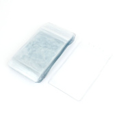 Plastic Waterproof Business Exhibition ID Name Card Holder 20PCS Clear