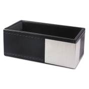 AOPART43001 Artistic Llc Architect Line Business Card Holder, Holds 50 2 x 3 1/2, Black/Silver