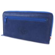 """Wallet + chequebook holder zipper leather glitter 'Les Trésors De Lily'blue of france - 20x12x3.5 cm (7.87""""x4.72""""x1.38"""")."""