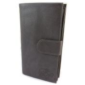 "Wallet + chequebook holder leather glitter 'Les Trésors De Lily'smoked grey - 20x12x3.5 cm (7.87""x4.72""x1.38"")."