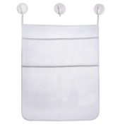 eBoot Bath Toy Storage Mesh Bag Bath Tub Toy Organiser Baby Toy Holder Net with 3 Pieces Suction Cups Hooks