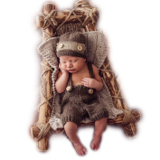 Hand Knitting Newborn Boy Girl Outfits Baby Photography Props Crochet Hats Pants